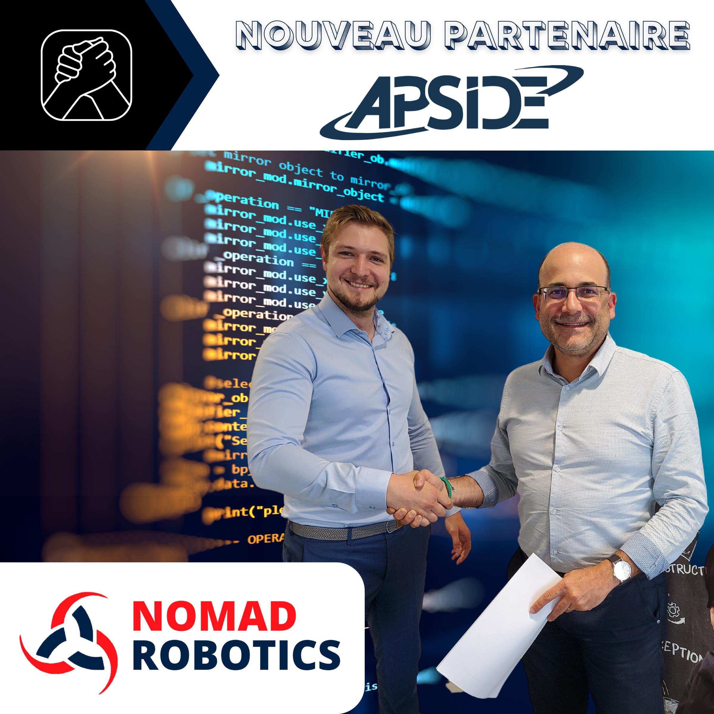 APSIDE - NOUVEAU PARTENAIRE de NOMAD ROBOTICS